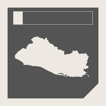 mapa de el salvador: El Salvador bot�n bot�n del mapa en el bot�n de respuesta plana web dise�o de mapas aislado con trazado de recorte. Foto de archivo
