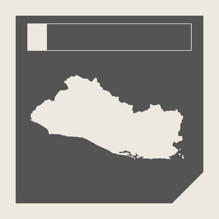 el salvador: El Salvador map button button in responsive flat web design map button isolated with clipping path.