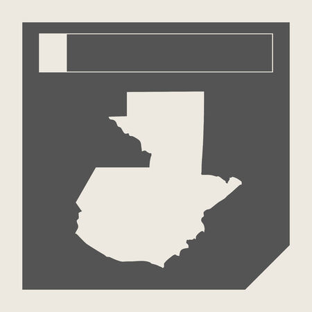 guatemala: Guatemala map button in responsive flat web design map button isolated with clipping path.
