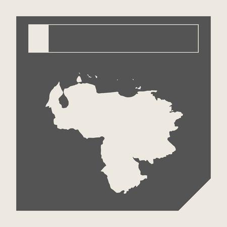 mapa de venezuela: Botón del mapa Venezuela en el botón de respuesta plana web diseño de mapas aislado con trazado de recorte. Foto de archivo