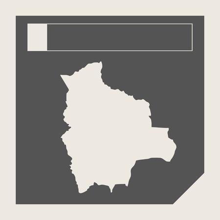mapa de bolivia: Botón del mapa Bolivia en el botón de respuesta plana web diseño de mapas aislado con trazado de recorte. Foto de archivo