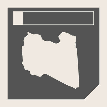 Libya map button in responsive flat web design map button isolated with clipping path. photo