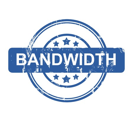 bandwidth: Bandwidth business concept stamp with stars isolated on a white background.