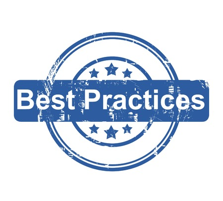 best practices: Best Practices business concept stamp with stars isolated on a white background.