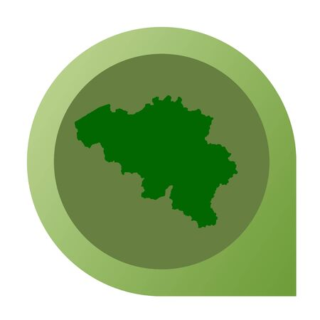 Isolated Belgium map marker pin in flat web design style. photo