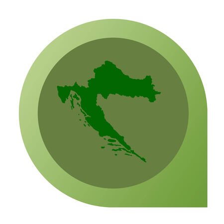 Isolated Croatia map marker pin in flat web design style. photo