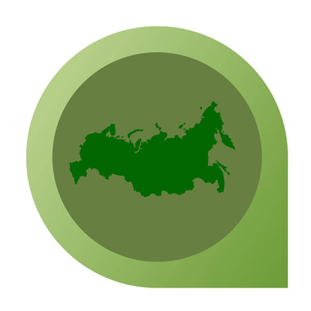 russian federation: Isolated Russian Federation map marker pin flat web design style. Stock Photo
