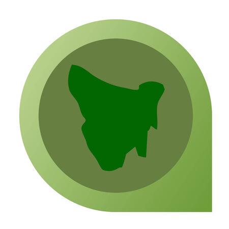 tasmania: Isolated Tasmania map marker pin in flat web design style.