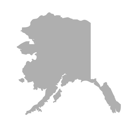 alaska map: Alaska map isolated on a white background, U.S.A.