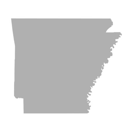arkansas state map: Arkansas State map isolated on a white background, U.S.A.
