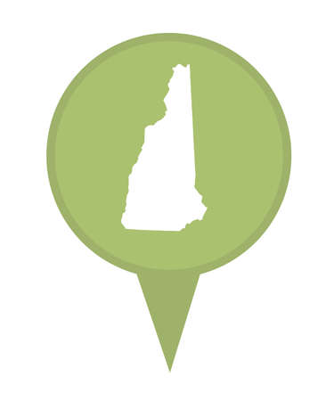 American state of New Hampshire marker pin isolated on a white background. photo