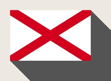 alabama flag: American State of Alabama flag in flat web design style.