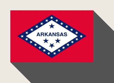 arkansas: American State of Arkansas flag in flat web design style.