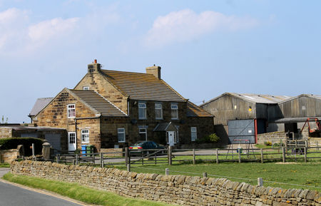 north yorkshire: Countryside farm in Whitby, North Yorkshire, England.