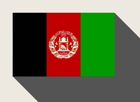afghanistan: Afghanistan flag in flat web design style.