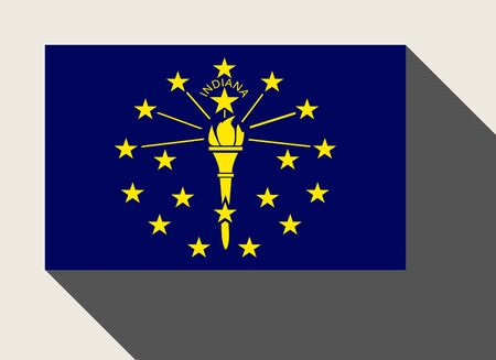 indiana: American State of Indiana flag in flat web design style.