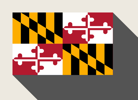 maryland flag: American State of Maryland flag in flat web design style.