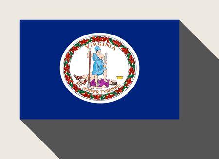 virginia: American State of Virginia flag in flat web design style.