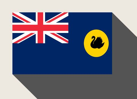 western state: State of Western Australia flag in flat web design style.
