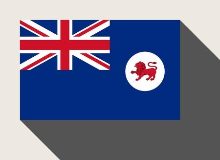 tasmania: Tasmania State flag in flat web design style. Stock Photo