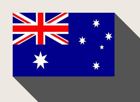 australia flag: Australia flag in flat web design style. Stock Photo