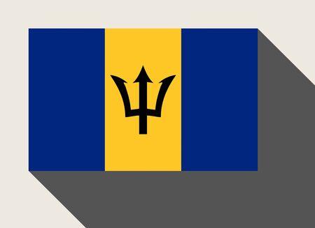 barbados: Barbados flag in flat web design style. Stock Photo