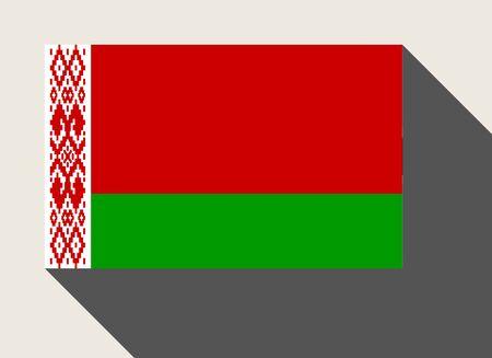 belarus: Belarus flag in flat web design style. Stock Photo