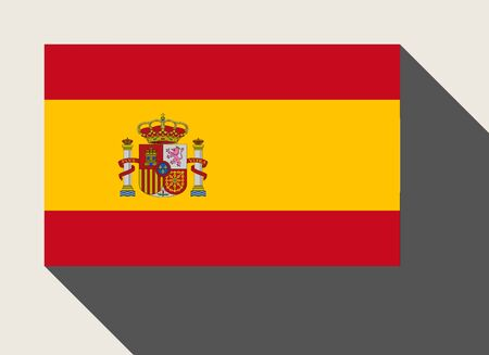 flag spain: Spain flag in flat web design style. Stock Photo