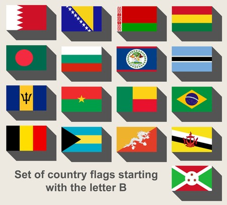 bermuda: Set of country flags staring with the letter B