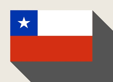 chile flag: Chile flag in flat web design style.