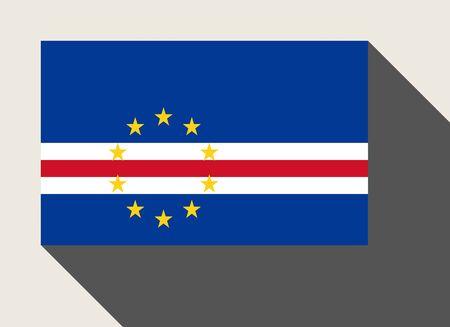 cape verde: Cape Verde flag in flat web design style. Stock Photo