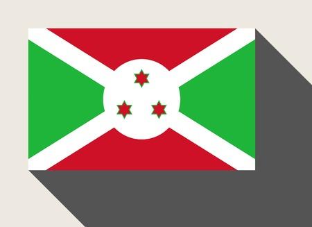 burundi: Burundi flag in flat web design style.