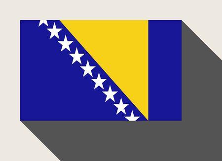 herzegovina: Bosnia and Herzegovina flag in flat web design style.