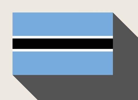 botswana: Botswana flag in flat web design style.