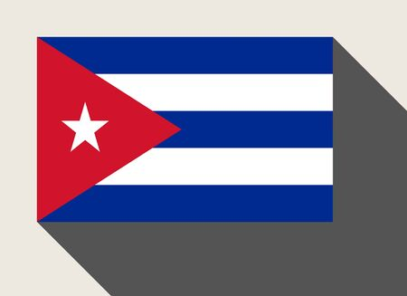 cuba flag: Cuba flag in flat web design style.