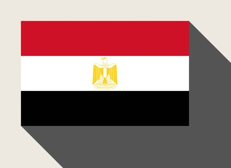 egypt flag: Egypt flag in flat web design style.