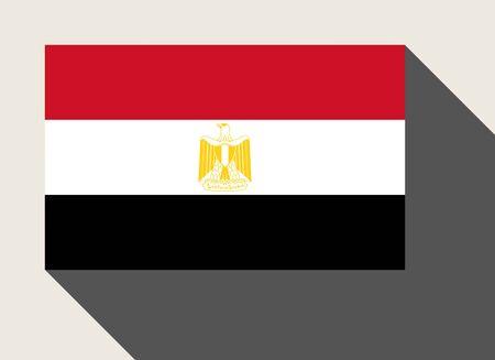 egypt flag: Egypt flag in flat web design style.