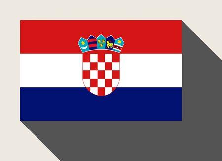 bandera de croacia: Bandera de Croacia en el estilo web diseño plano.