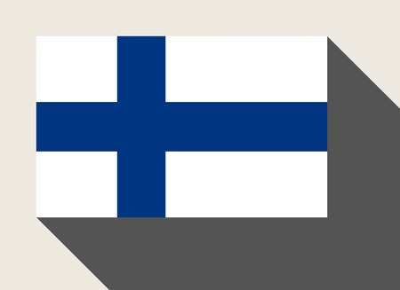finland flag: Finland flag in flat web design style. Stock Photo
