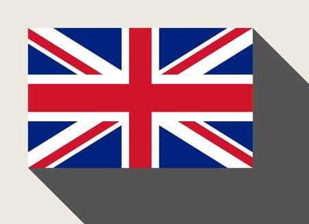 bandera de gran bretaña: Gran bandera de Gran Bretaña en estilo web diseño plano.
