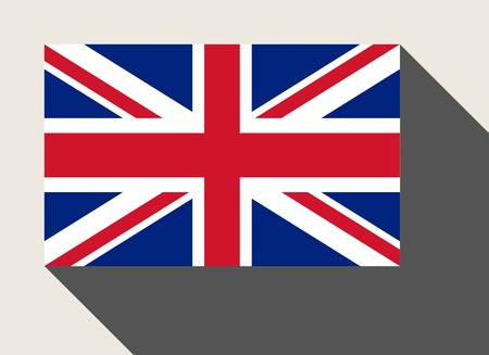 great britain flag: Great Britain flag in flat web design style.