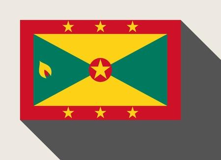 grenada: Grenada flag in flat web design style.