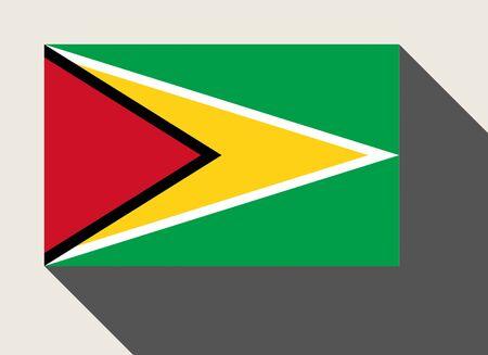 Guyana: Guyana flag in flat web design style.