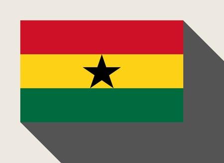 ghana: Ghana flag in flat web design style. Stock Photo