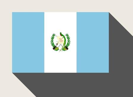 guatemala flag: Bandera de Guatemala en estilo web diseño plano.