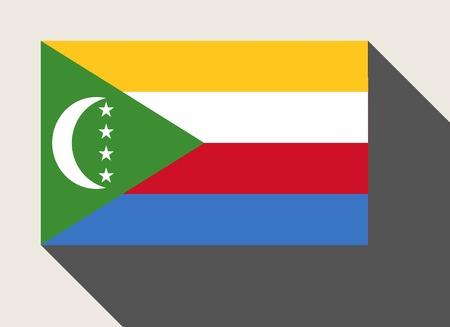 comoros: Comoros flag in flat web design style.