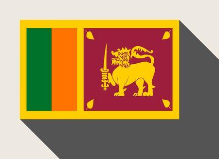 sri lanka: Sri Lanka flag in flat web design style.