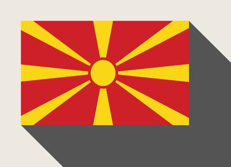 macedonia: Macedonia flag in flat web design style.