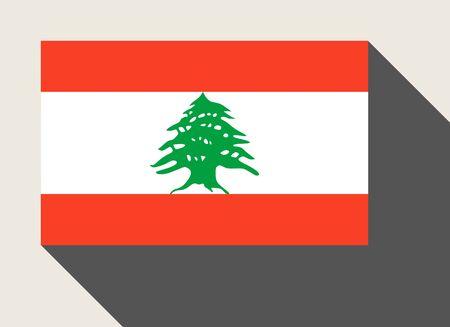 lebanon: Lebanon flag in flat web design style.