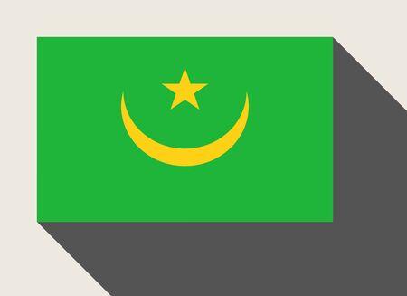 mauritania: Mauritania in flat web design style.